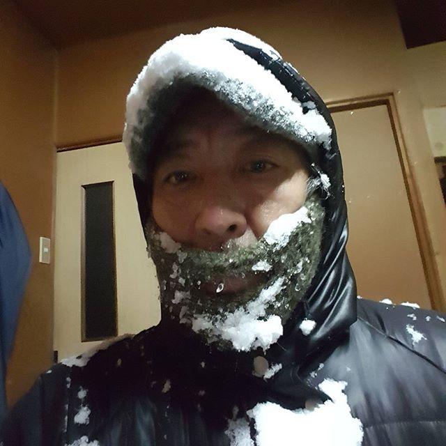 重宝している(笑)#今日も雪ほげからスタート#ヒゲ