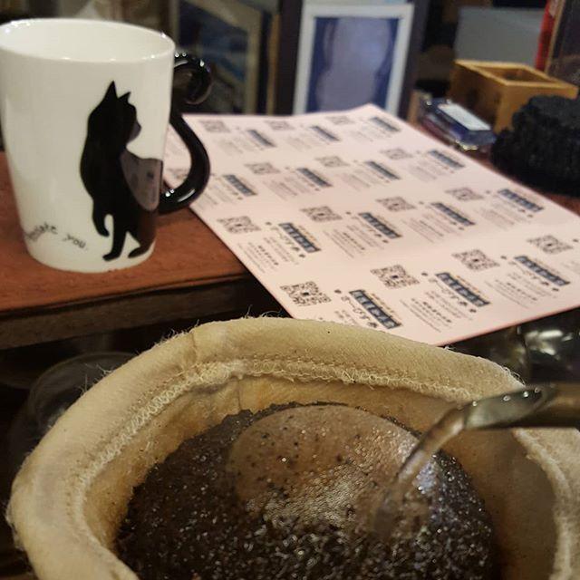 #珈琲と猫と煙草と... サービス券切らんばー#やさぐれFriday